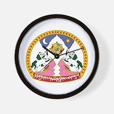 Tibet Emblem Wall Clock