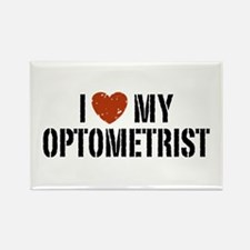 I Love My Optometrist Rectangle Magnet