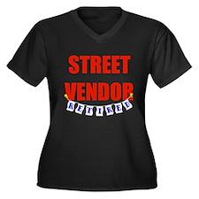 Retired Street Vendor Women's Plus Size V-Neck Dar