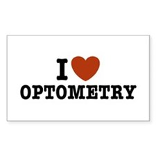 I Love Optometry Rectangle Decal