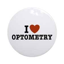 I Love Optometry Ornament (Round)