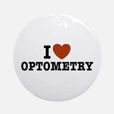 I Love Optometry Ornament (Round)