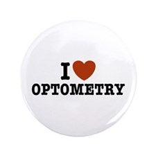 """I Love Optometry 3.5"""" Button"""