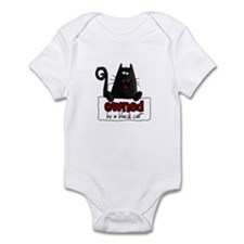 owned by a black cat Infant Bodysuit