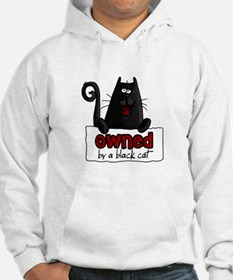 owned by a black cat Hoodie