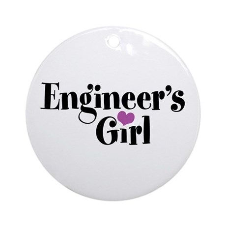 Engineer's Girl Ornament (Round)