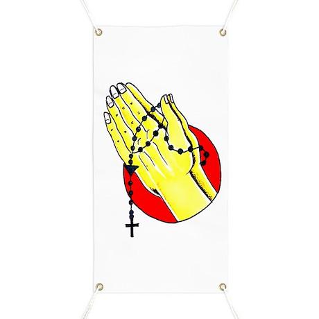 Praying Hands Tattoo Art Banner