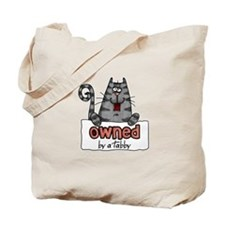 owned by a tabby Tote Bag