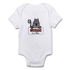 owned by a tabby Infant Bodysuit