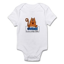 owned by an orange tabby Infant Bodysuit