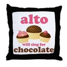 Funny Alto Throw Pillow
