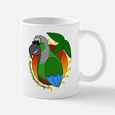Cartoon Green Cheek Conure Mug