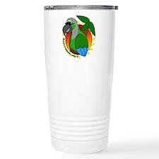 Cartoon Green Cheek Conure Travel Mug