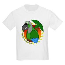Cartoon Green Cheek Conure T-Shirt
