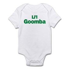 Li'l Goomba infant bodysuit. White or blue