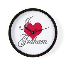 I love (heart) Graham Wall Clock