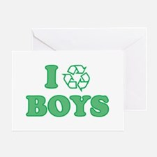 I Recycle Boys Greeting Card