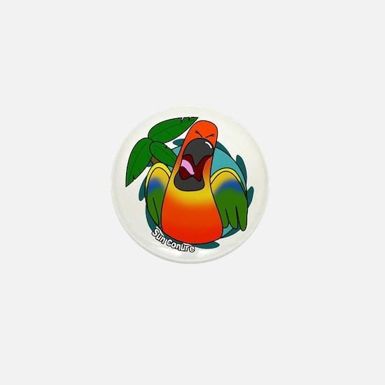 Cartoon Bird Sun Conure Mini Button