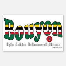 Bouyon Rectangle Sticker 10 pk)