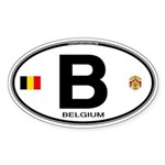 Belgium Euro Oval Oval Sticker