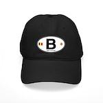 Belgium Euro Oval Black Cap