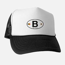 Belgium Euro Oval Trucker Hat