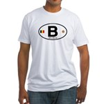 Belgium Euro Oval Fitted T-Shirt