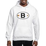 Belgium Euro Oval Hooded Sweatshirt