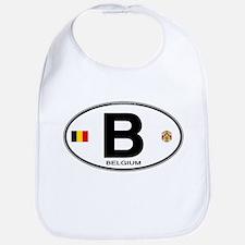 Belgium Euro Oval Bib
