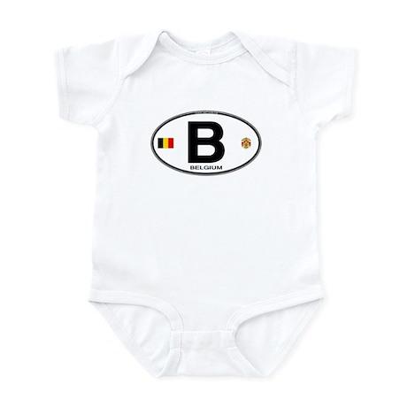 Belgium Euro Oval Infant Bodysuit