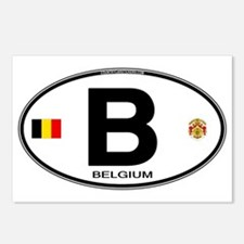 Belgium Euro Oval Postcards (Package of 8)
