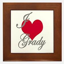 I love (heart) Grady Framed Tile