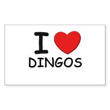 I love DINGOS Rectangle Decal