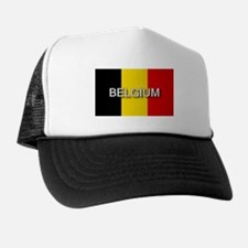 Belgium Flag with Label Trucker Hat