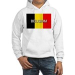 Belgium Flag with Label Hooded Sweatshirt
