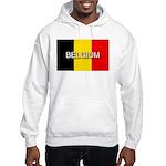 Belgium Flag with Label Hooded Sweatshirt