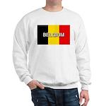 Belgium Flag with Label Sweatshirt