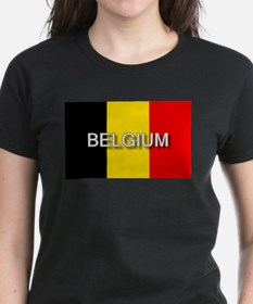 Belgium Flag with Label Tee