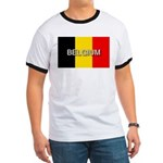 Belgium Flag with Label Ringer T