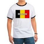 Belgium Flag with Label Ringer T