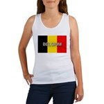 Belgium Flag with Label Women's Tank Top