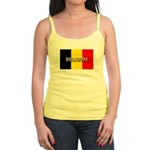 Belgium Flag with Label Jr. Spaghetti Tank