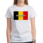 Belgium Flag with Label Women's T-Shirt