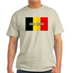 Belgium Flag with Label Light T-Shirt