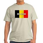 Belgium Flag with Label Light T-Shirt
