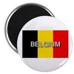 Belgium Flag with Label Magnet