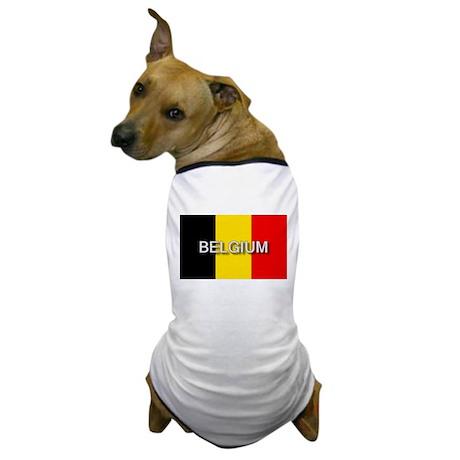 Belgium Flag with Label Dog T-Shirt