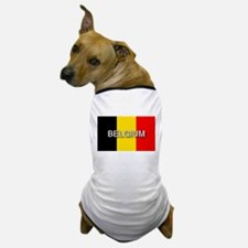 Belgium Flag with Label Dog T-Shirt
