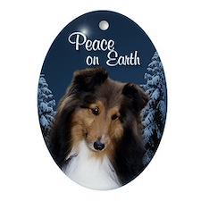 Sweet Sheltie Peace Ornament