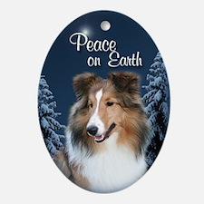 Sheltie Girl Peace Ornament